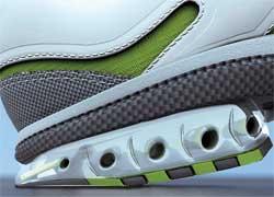 Амортизация подошвы беговых кроссовок