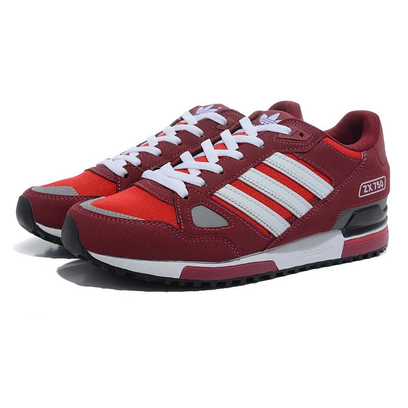 AdidasZX 750 Men's бордово-красные.
