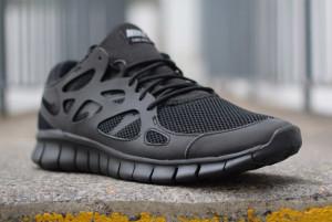 Мужские кроссовки Nike Free Run 2 Triple Black