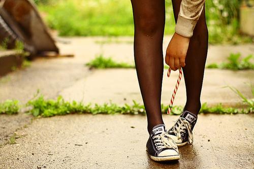 Converse на девушке