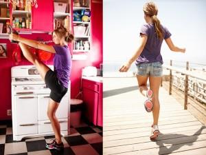 Девушка в кроссовках Reebok EasyTone