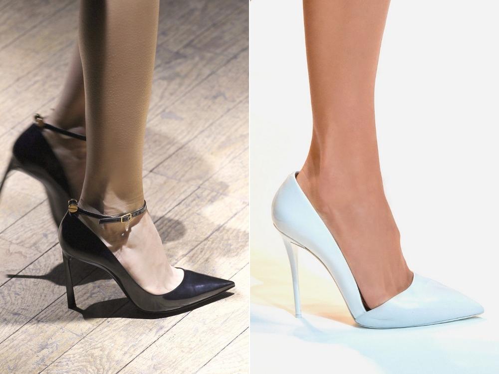 Девушки в остроносых туфлях