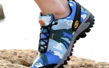 Парень в обуви с технологией GoreTex